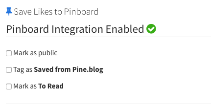 Pinboard Integration